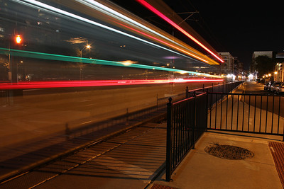 Tide Lightrail trails off Brambleton Ave - Norfolk