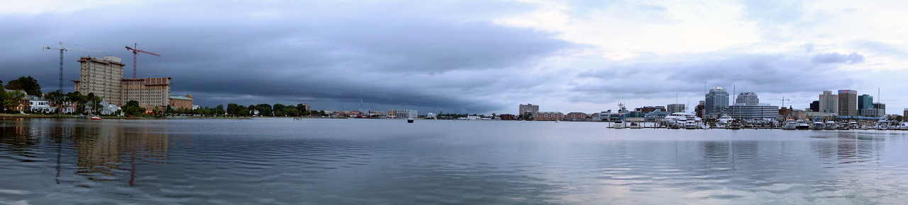 Norfolk and Portsmouth Pano as storm approaches