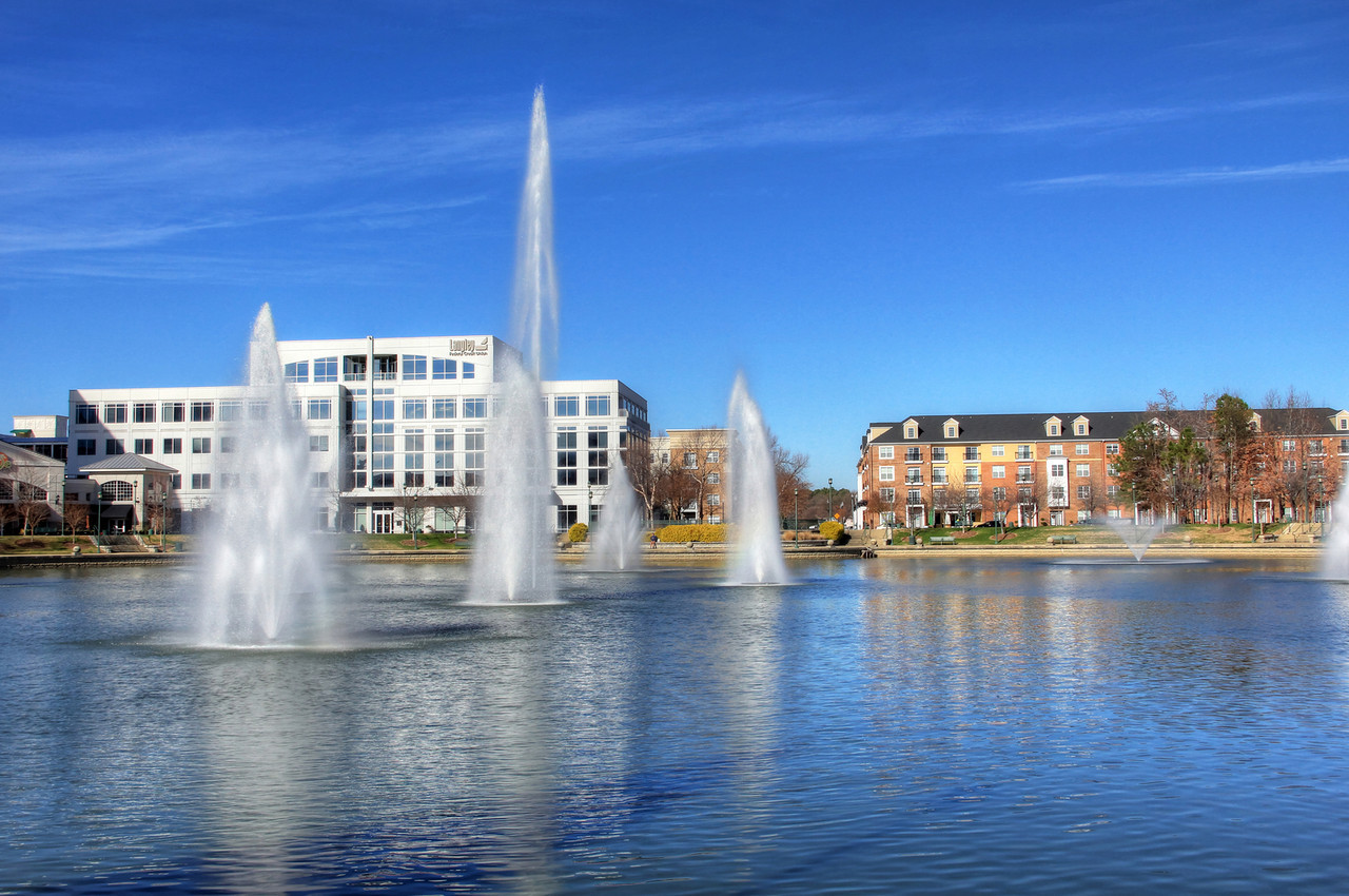 City Center Fountain - Newport News