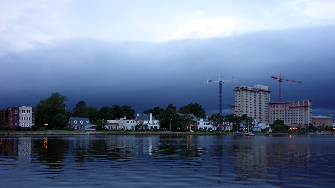 Storm front over Portsmouth, Va