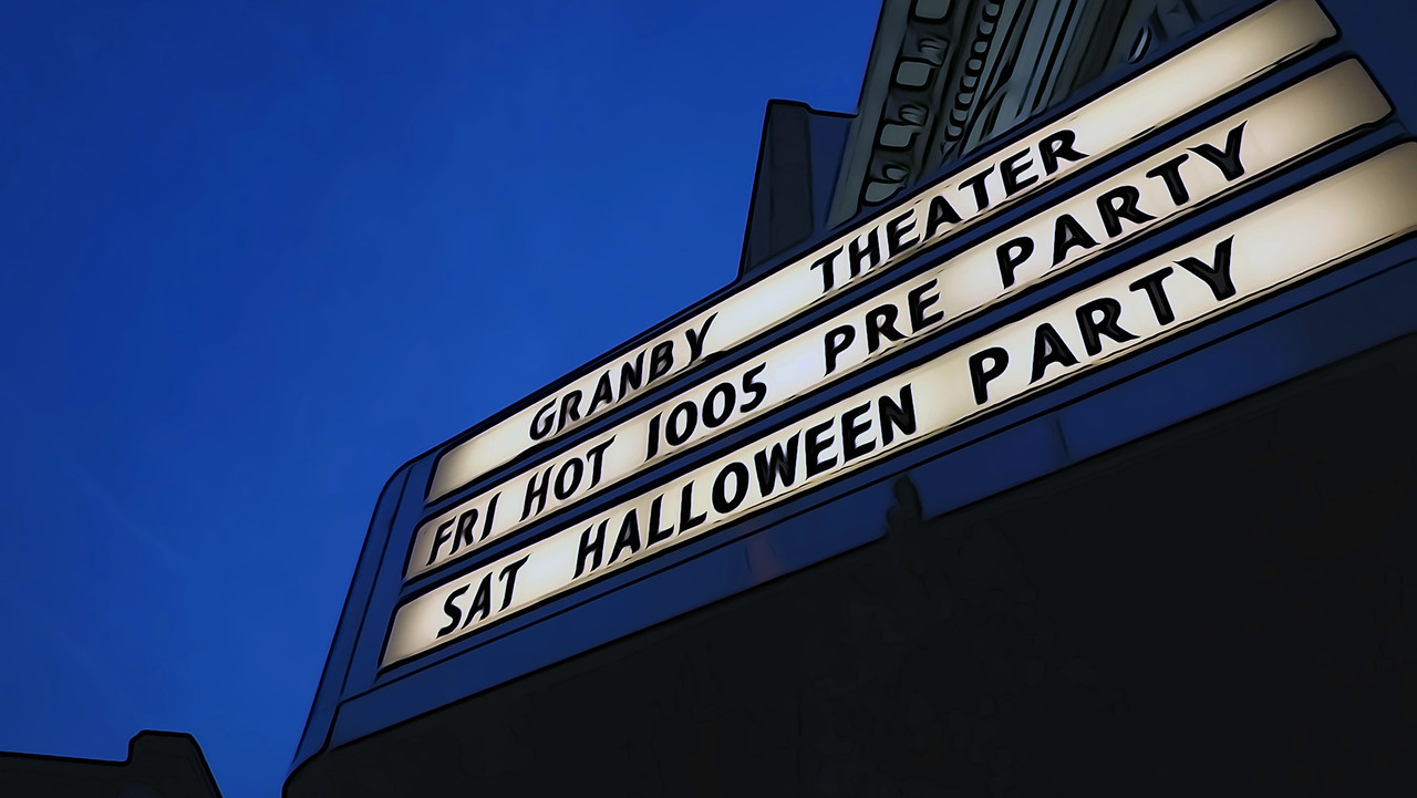 The Granby Theater Marquee
